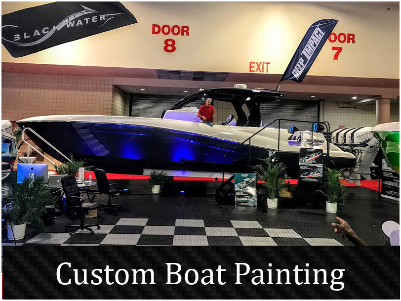 Custom boat painting