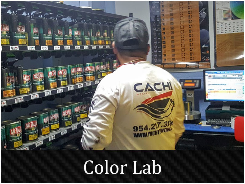 yacht painting color mixing lab