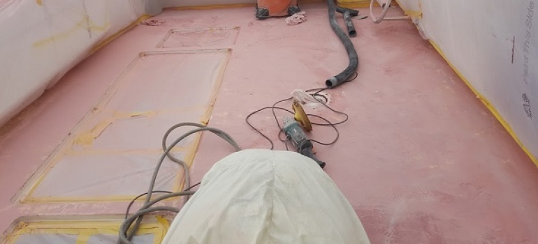 Boat fairing work